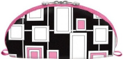 Cris Notti Pink Windows Dome Cosmetic Bag