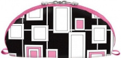 Cris Notti Pink Windows Dome Cosmetic Bag