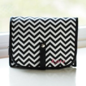 Chevron Hanging Cosmetic Bag Includes Grooming Set