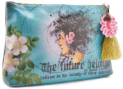 Papaya Art Future Beauty Graphic Arts Design Oil Cloth Cosmetic or Accessory Travel Bag