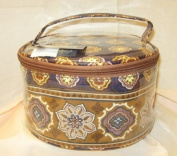 MaggiB Navy Mosaic Cometic Caddy