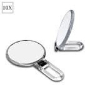 Crome Finished Folding 5x Mirror