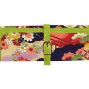 Cris Notti Green Kimono Jewellery Roll