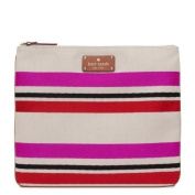 Kate Spade New York Oak Island Stripe Adrianne Pink Cosmetic Bag