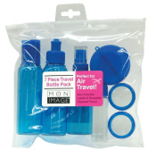 Mon Image 7 Piece Travel Bottle Pack, Colours may vary