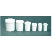 (3) 16oz/450mL White Plastic Ointment Jars - MULTI-USE!