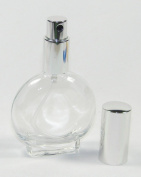 1 Oz Empty Refillable Circle Glass Perfume Bottle Atomizer 30 Ml