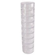 30 New Empty Clear Stackable Twist & Screw Cosmetic Containers 3 Gramme Pot Jar Eyshadow Container Lot
