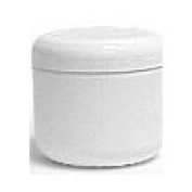 White Plastic Jar with Dome Lid 240ml - 6 Per Bag