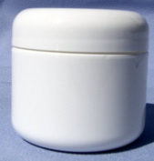 White Plastic Jar with Dome Lid 120ml - 12 Per Bag