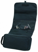 Deluxe Tri-Fold Hanging Toiletry Cosmetics Travel Bag, Black by BAGS FOR LESSTM