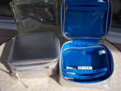 True Blue Spa Zippered Beauty Case with Zippered Compartments on Either Side