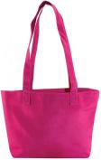 Microfiber Tote Bag 34.9cm X 7cm X 22.9cm  - Hot Pink