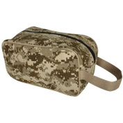 Digital Desert Camouflage Canvas Toiletry Kit