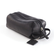 Osgoode Marley Leather Small Compact Toiletry Travel Kit - Black