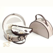 Two Level Leather Jewellery Storage, Taupe