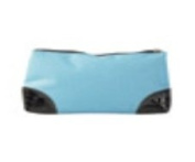 Zippered Cosmetic Bag, Turquoise/Black