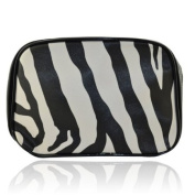 Fashionable Zebra Pattern Cosmetic Bag