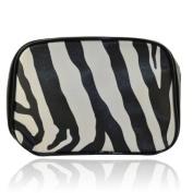 Fashionable Zebra Pattern Cosmetic Bag