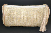 Nordstrom Raffia Make Up Cosmetics Bag / Pouch