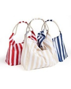 BLOOMINGDALE' Striped TOTE