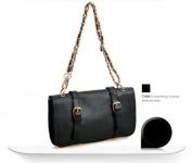 New Fashion Korean Lady Women Black PU Leather Vintage Single Handle Satchel Handbag Purse Hobo Tote Bag