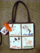 Pug, Pom, Spaniel & Terrier~Straight Sided Tote/Handbag