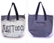New Fashion Korean Lady Women Grey Canvas Vintage Shoulder Bags Messenger Purse Hobo Tote Handbag School Bag