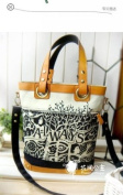Women's Handcraft Tote Bag , Designer Heavy Duty Canvas - A Great Carryall For Every Day- Strong Cotton Canvas Shell, Rich Handles, Trim, Bottom ,Inside and Outside Pockets , Convenient Fob,Stylish and Unique, Arrives in Protective Drawstring Storage Bag.