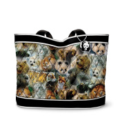 """Protect The Wild"" Quilted Tote Bag With 2 Free Matching Cosmetic Cases by The Bradford Exchange"
