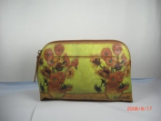 Genuine Leather Bag with Flower Pattern
