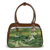 """A Touch Of Ireland"" Purse With A Free Detachable Claddagh Keychain by The Bradford Exchange"