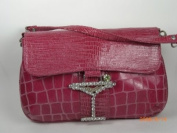 Fuscia Make bag with Strap