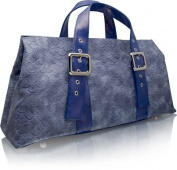 Cris Notti Anaconda Blue Tote Bag