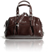 Coach Ashley Patent Satchel F20460 Silver / Mahogany
