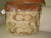 New Coach Optic Signature Large Zoe SV/Khaki F14710