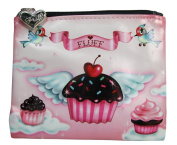 Cupcake Heaven / Cupcake Heaven and Cupcake Angels Flat Coin Bag