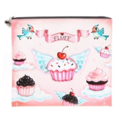 Cupcake Heaven Cosmetic Bag / Cupcake Heaven and Cupcake Angels Flat Makeup / Cosmetic Bag