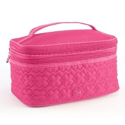 Lug Travel TWO STEP Cosmetic Train Case Make Up Bag ROSE PINK