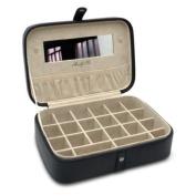Morelle Kimberly Leather Versatile Jewellery Box, Black