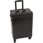 Professional Rolling Cosmetic Makeup Case with Removable Tray and Divider Colour