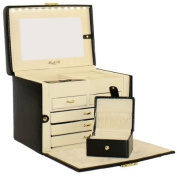 Morelle Jackquilyn Small Leather Illuninated Box, Black