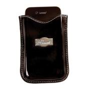 Solid Black Cell Phone Sleeve * Flaunt Handbag NWT Patent Liquid Gloss 92121