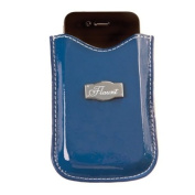 Solid Blue Cell Phone Sleeve * Flaunt Handbag NWT Patent Liquid Gloss 92124