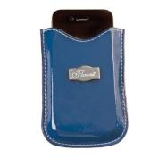 Solid Blue Cell Phone Sleeve * Flaunt Handbag NWT Patent Liquid Gloss 92124