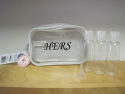 The Clear Bag Store TSA Compliant Carry On Cosmetic Toiletry Bag Aeroplane Hers Print