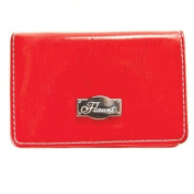 Solid Red Business Card Holder * Flaunt Handbag NWT Patent Liquid Gloss 92114