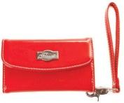 Solid Red Phone Clutch * Flaunt Handbag NWT Patent Liquid Gloss 92232