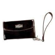 Solid Black Phone Clutch * Flaunt Handbag NWT Patent Liquid Gloss 92233