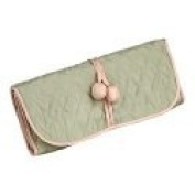 Green Silk Jewellery Roll or Cosmetic Roll By Zazendi